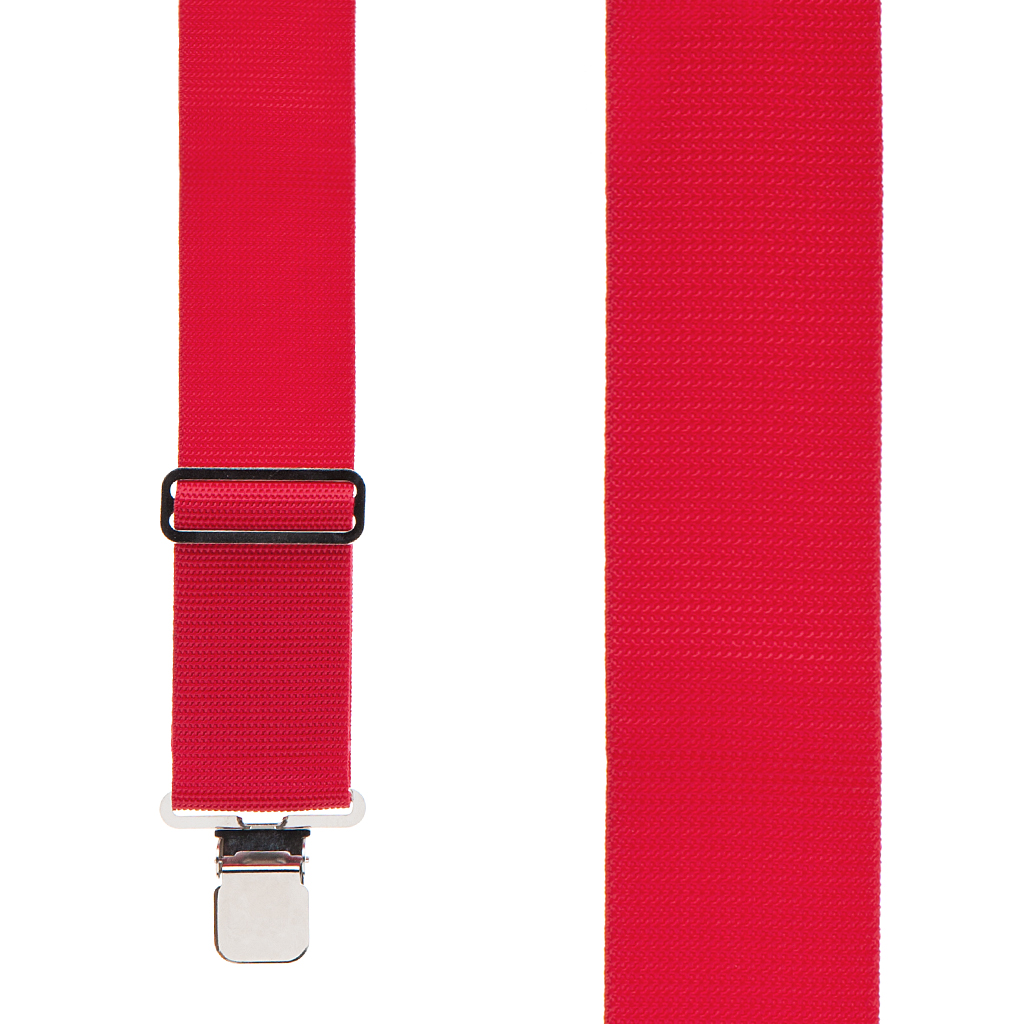 Heavy Duty Work Suspenders in Red - Front View