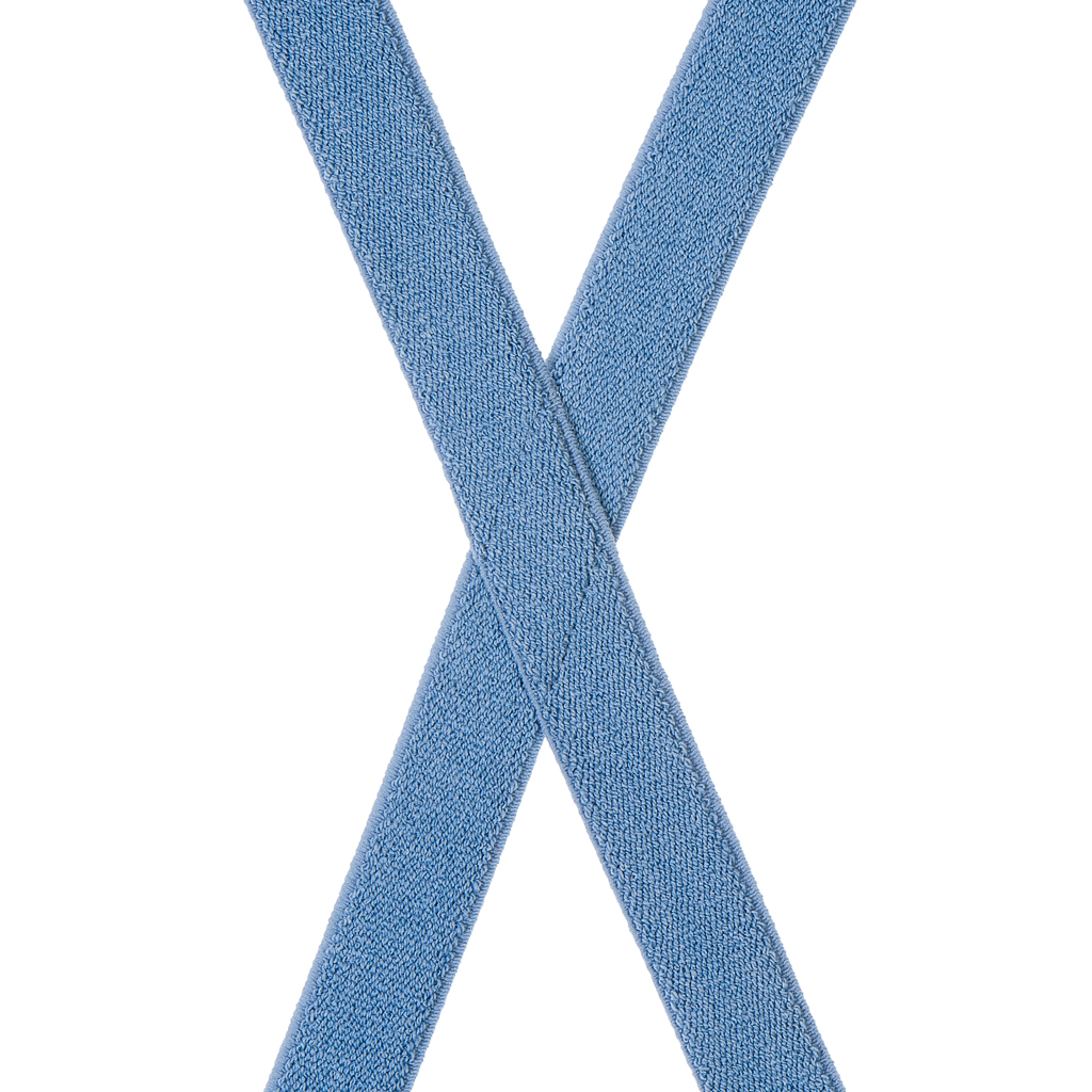 Dark Denim Suspenders - 1 Inch Wide - Rear View