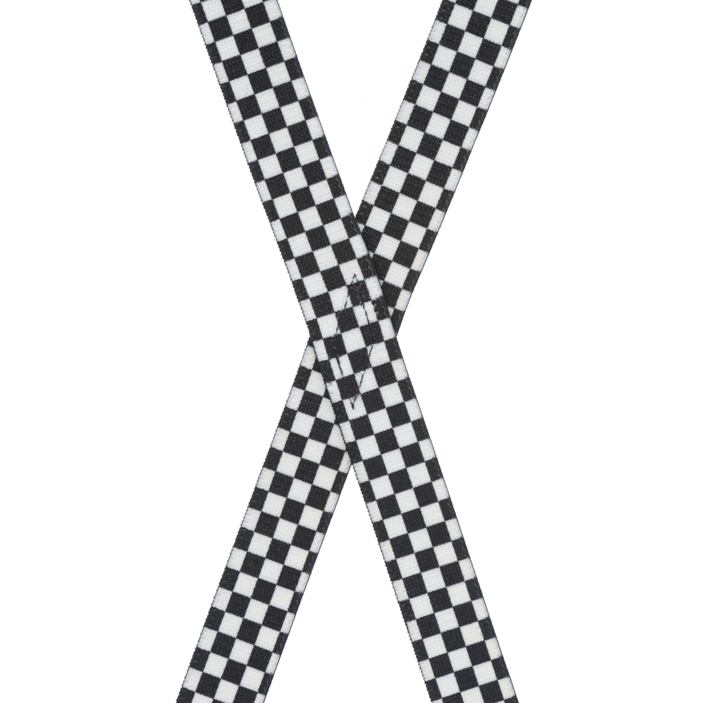 Checkered Suspenders for Kids - Rear View