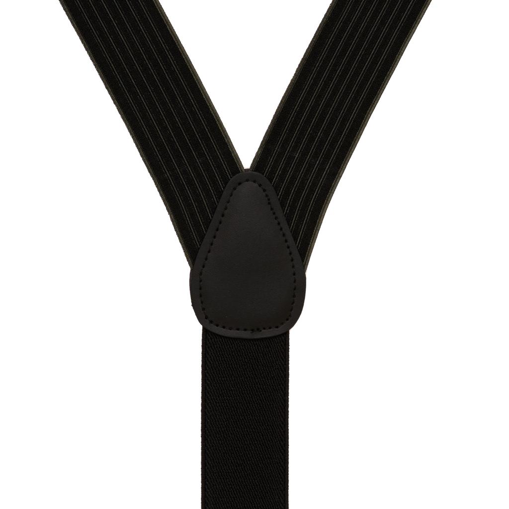 BLACK Geoffrey Beene Vertical Stripe Suspenders - Convertible - Rear View