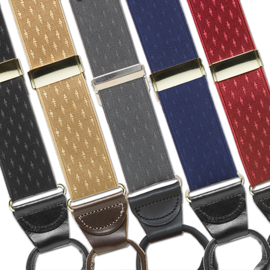 Jacquard Petite Diamonds Suspenders - All Colors
