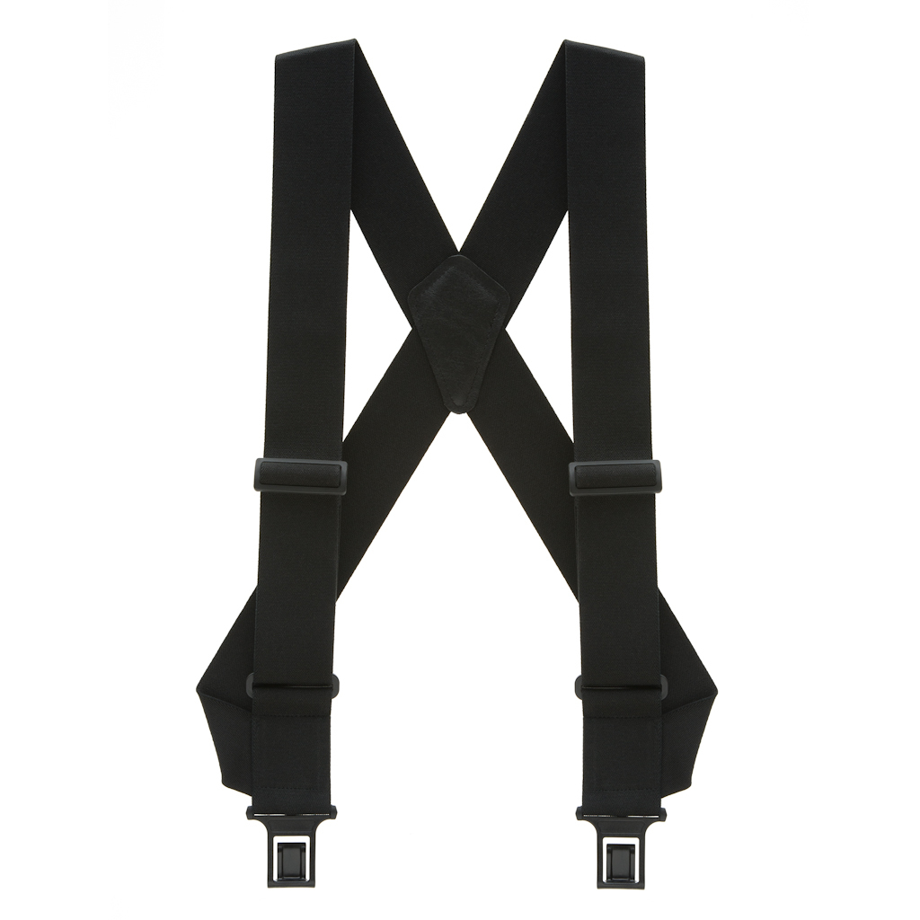 Perry Suspenders - Full View - Side Clip Black