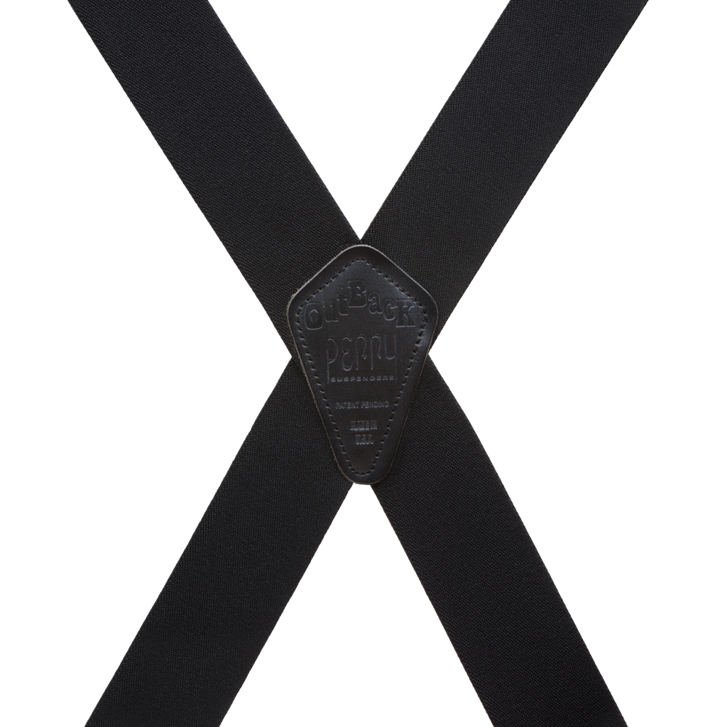 Perry Suspenders - Rear View - Side Clip Black