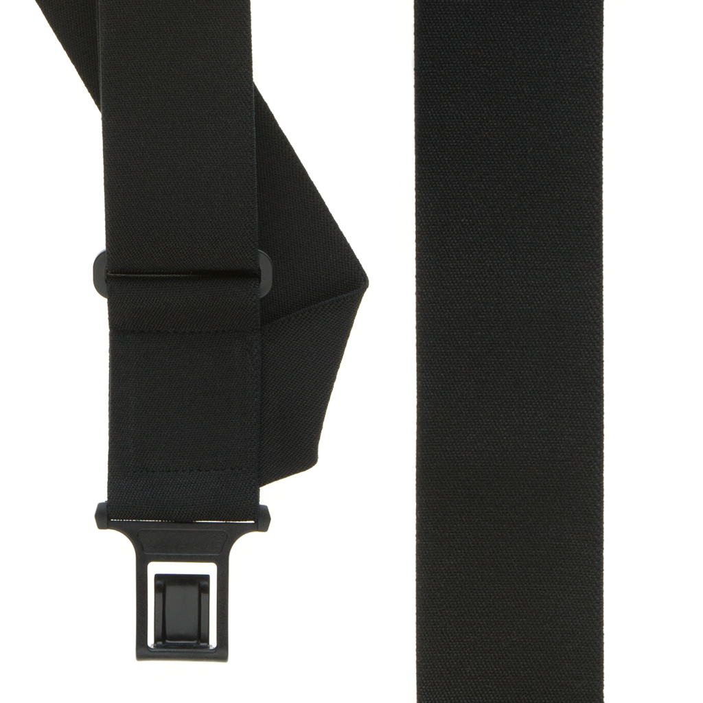 Perry Suspenders - Front View - Side Clip Black