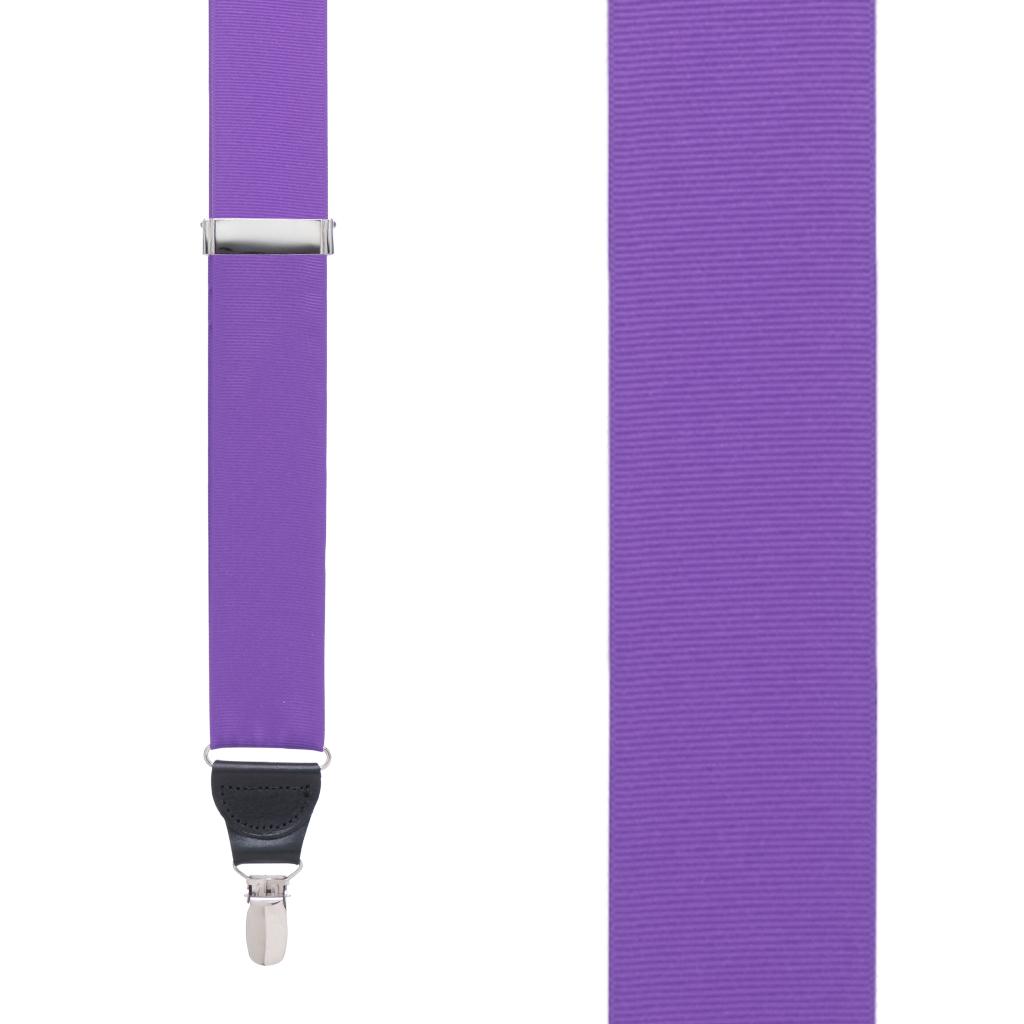 Grosgrain Clip Suspenders in Purple - Front View