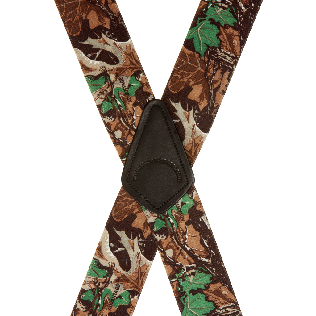 Advantage Camo Suspenders - Rear View