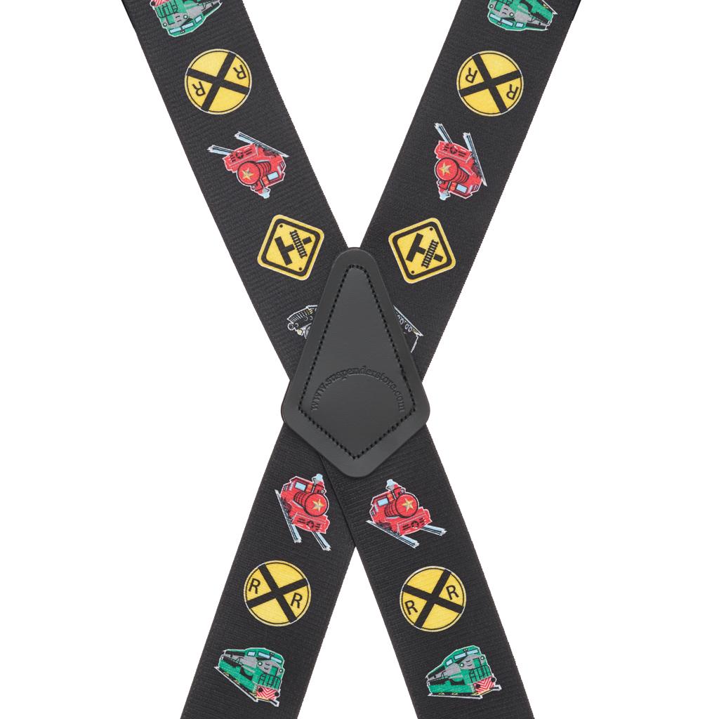 Train Suspenders - Rear View