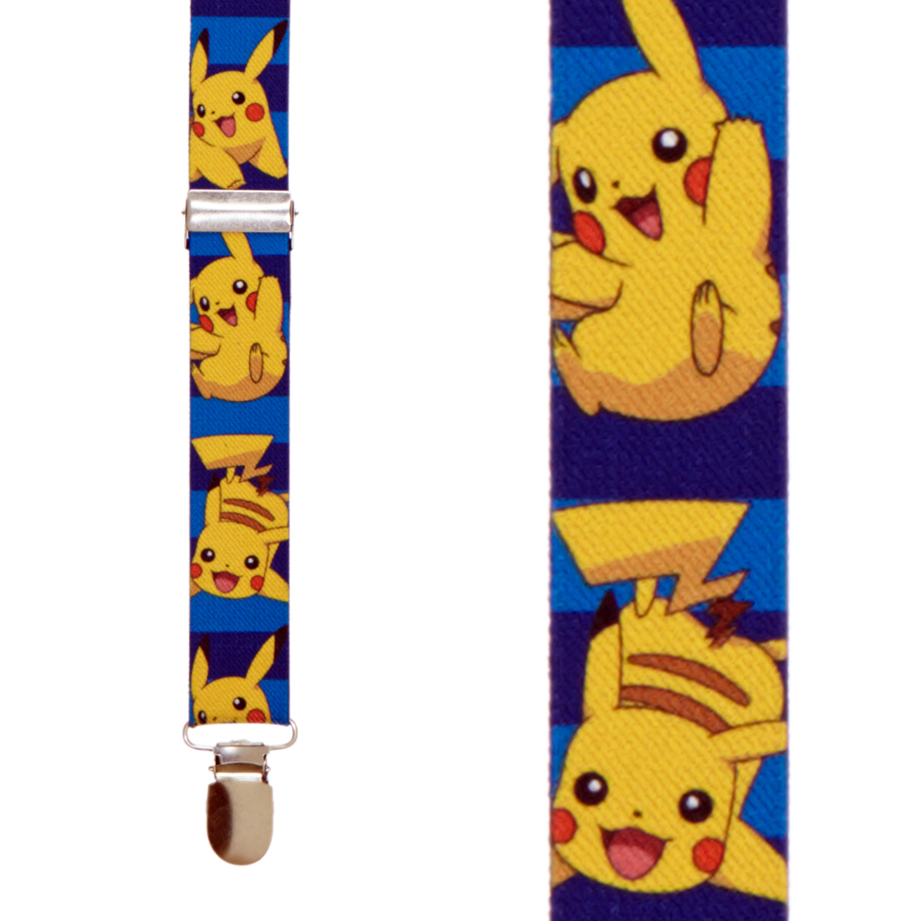 Pikachu Suspenders - Front View
