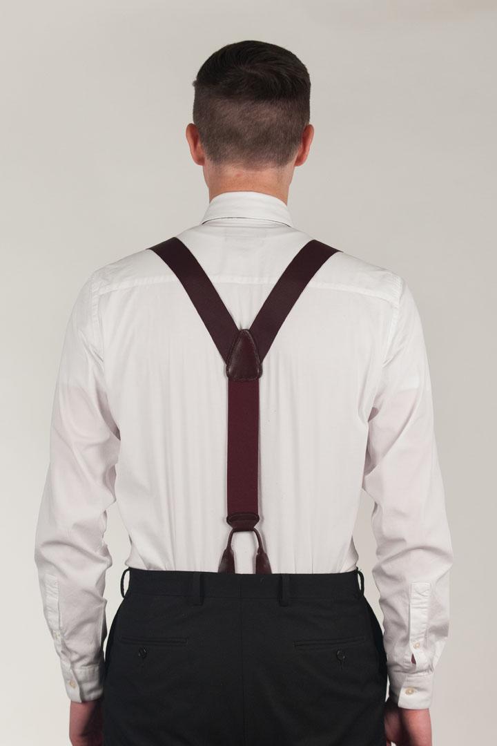 Oxford Cloth Button Suspenders