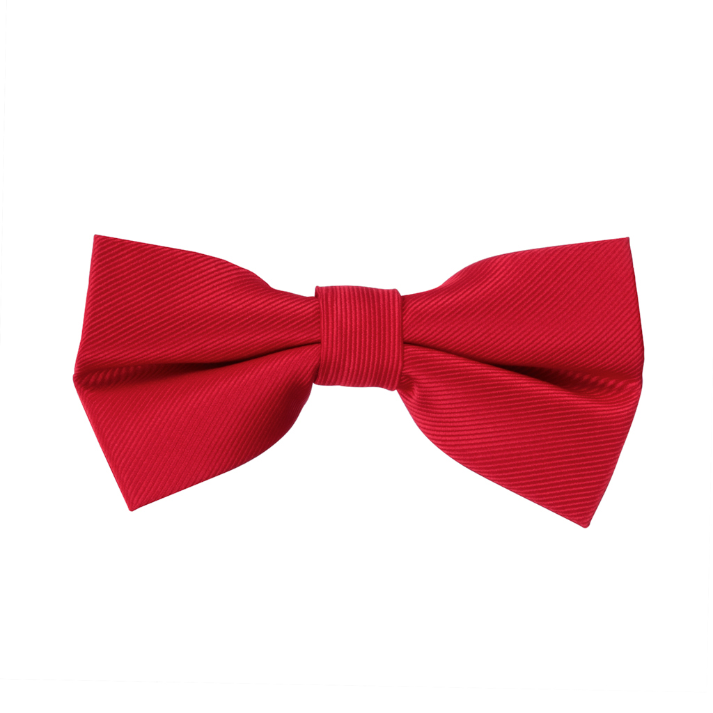 Red Twill Bow Tie