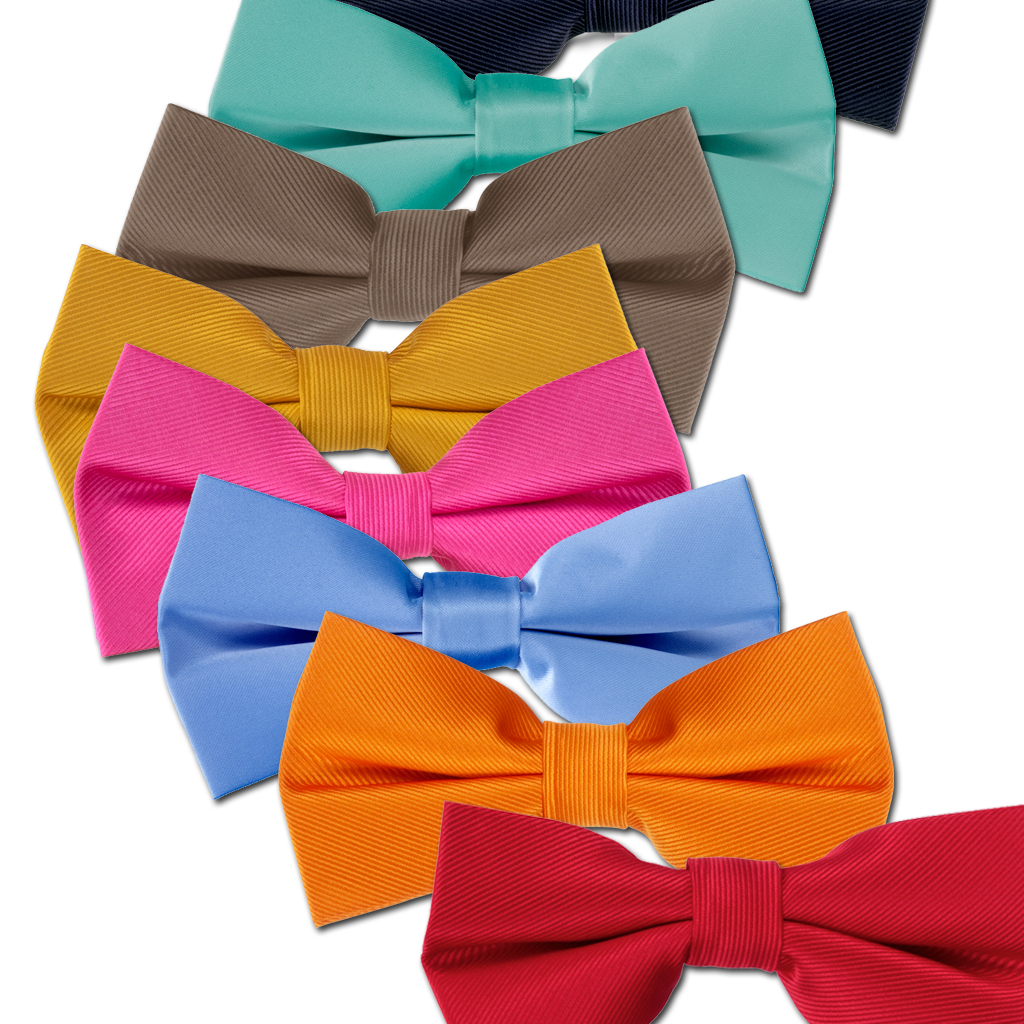 Solid Color Pre-tied Bow Ties for Kids