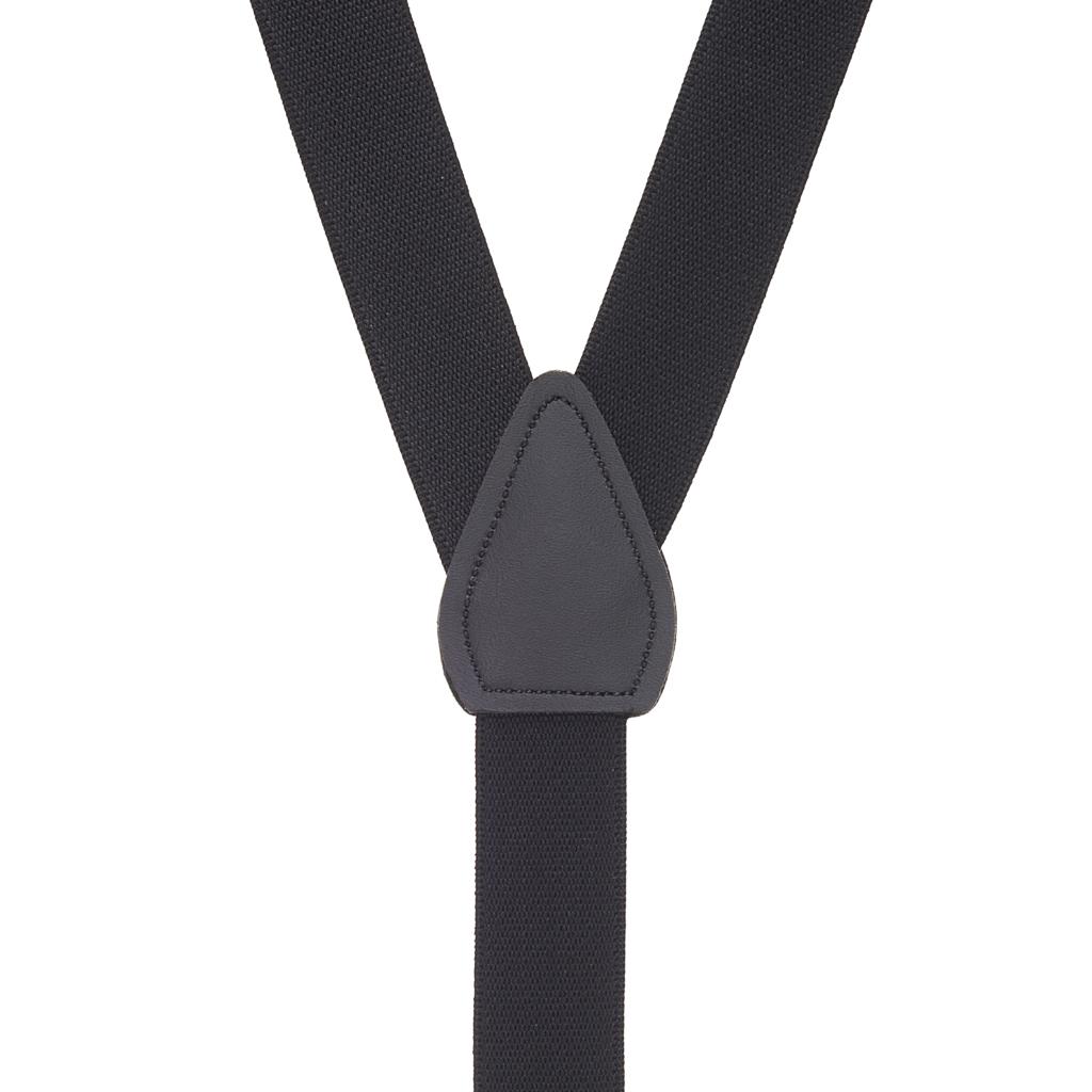 Kids Suspenders Solid Colors in Black - Rear View