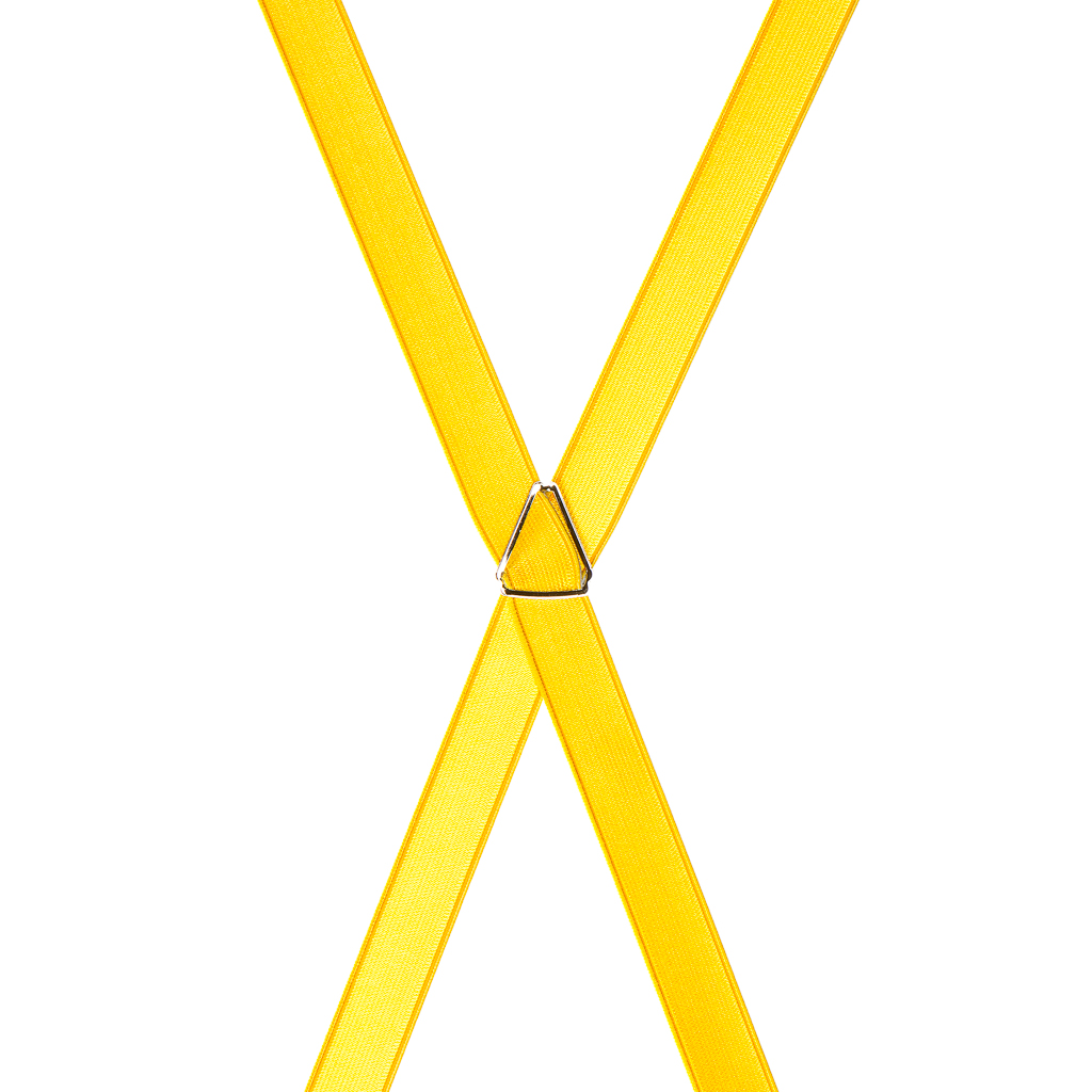 Bright Gold Satin Suspenders Rear View