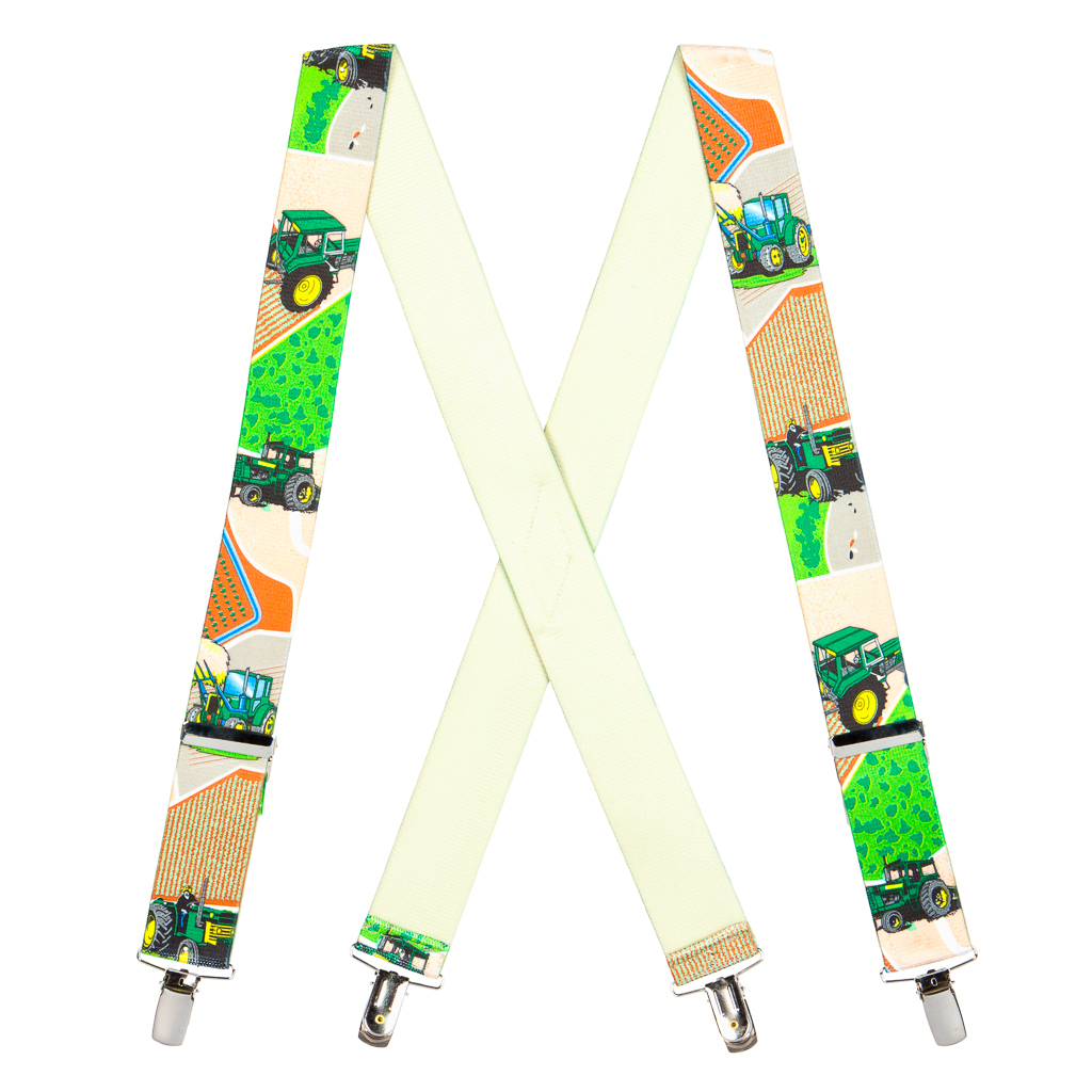 Tractor Suspenders for Kids - Full View