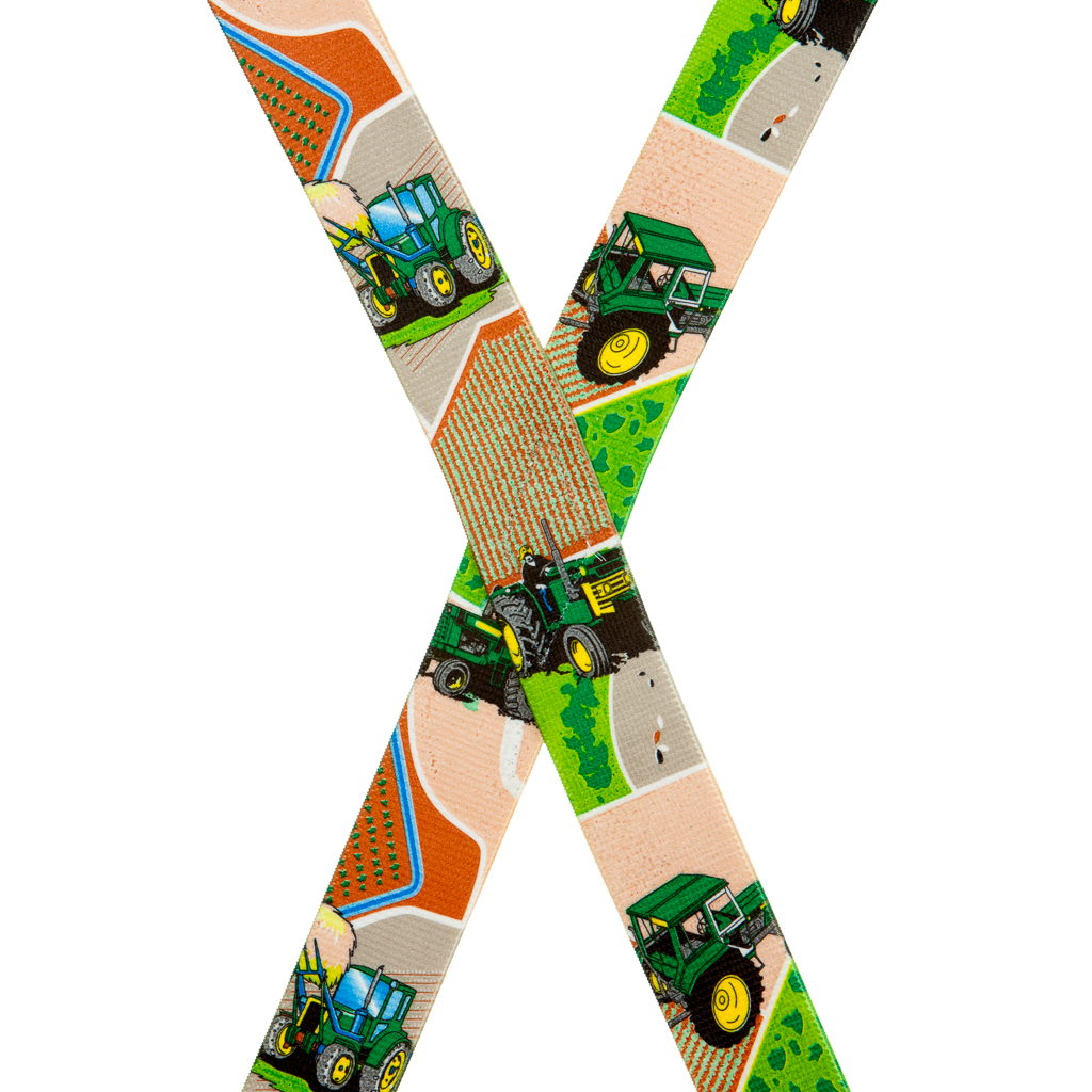 Tractor Suspenders for Kids - Rear View