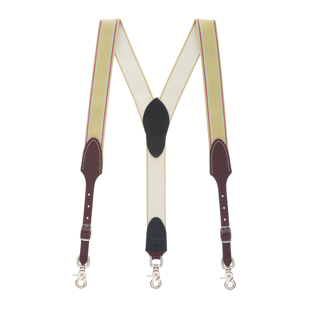 Rugged Comfort Suspenders in Sage Green - Full View