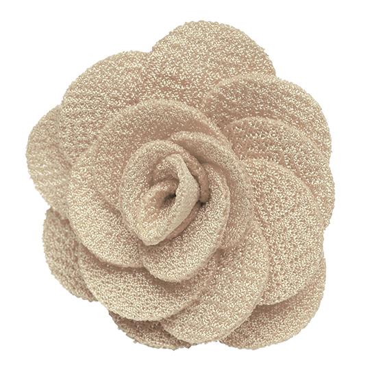 Lapel Flower - SAND Crepe