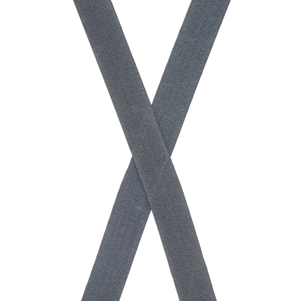 1 Inch Wide Clip Suspenders in Dark Grey - Rear View