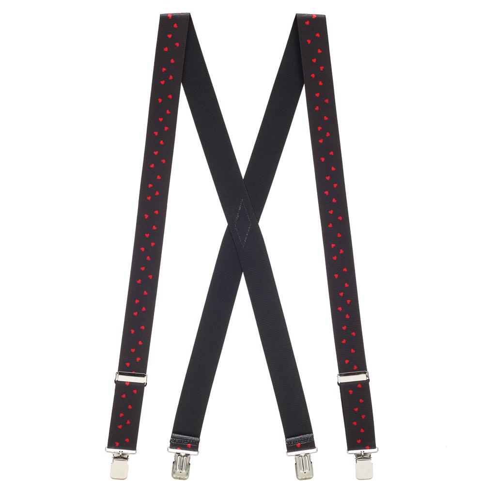 Hearts SALE Suspenders - Rear View
