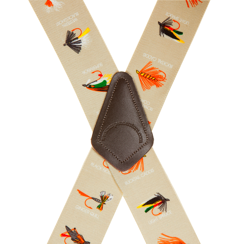 Fly Fishing Suspenders - Rear View
