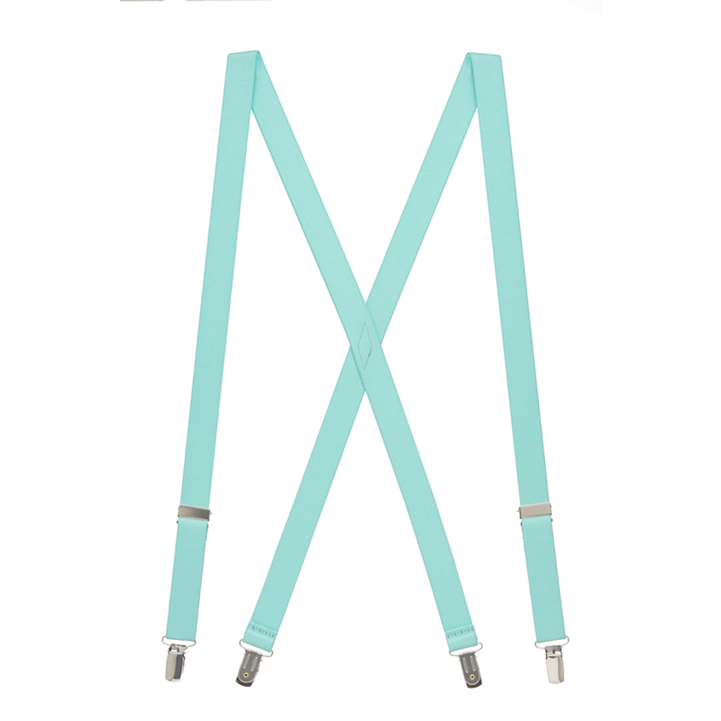 1-Inch Wide Suspenders in Mint - Full View