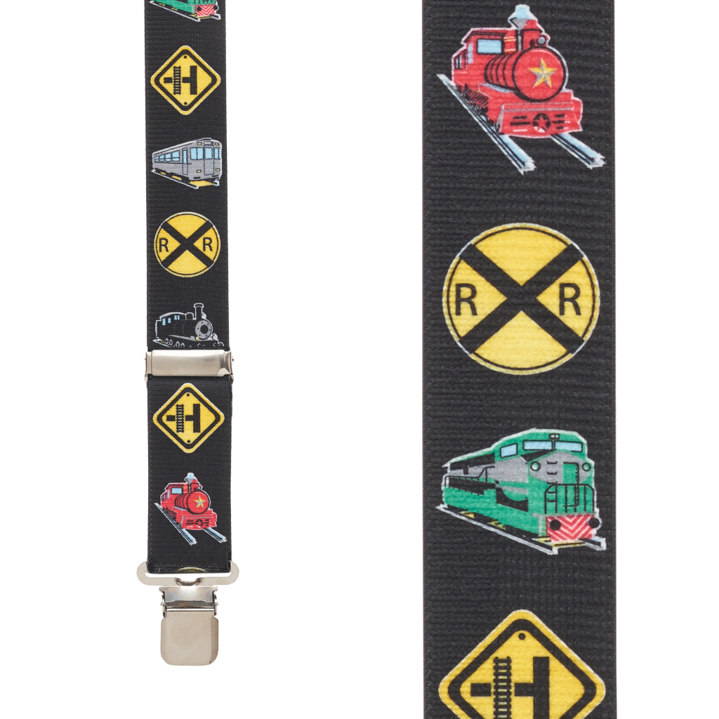 Train Suspenders - Front View