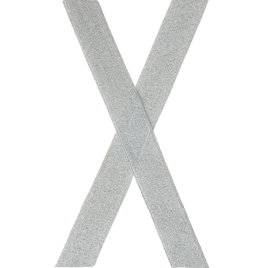 Silver Glitter Suspenders - Rear View