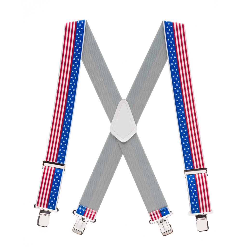 Classic Suspenders - Full View - USA Stars & Stripes