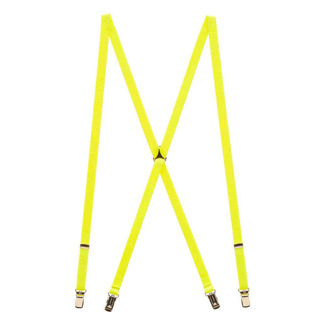 Neon Yellow Suspenders Full View