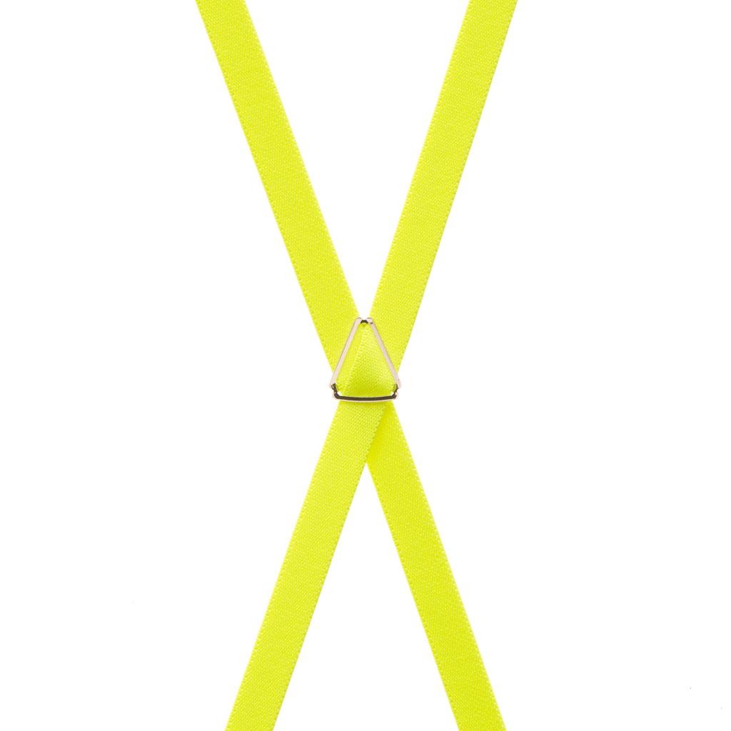 Neon Yellow Suspenders Rear View