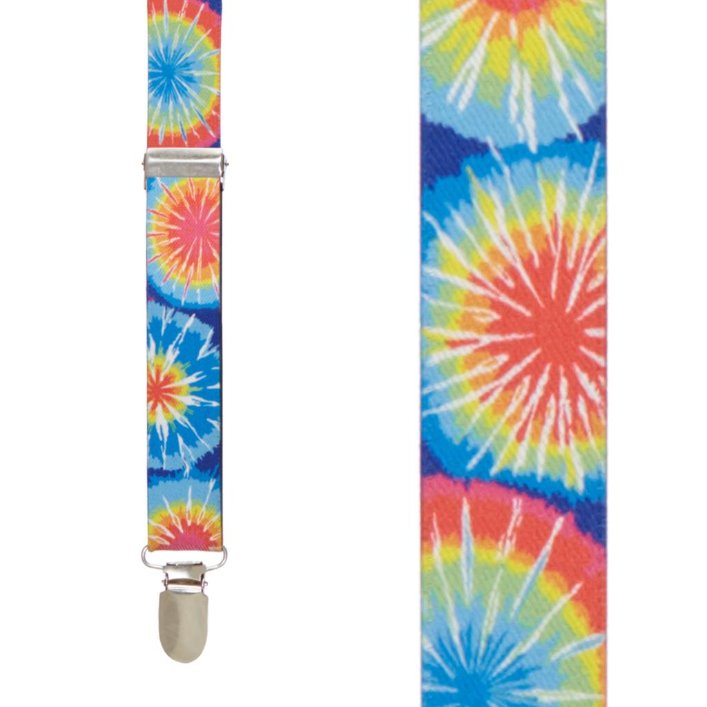Tie Dye Burst Suspenders - Front View
