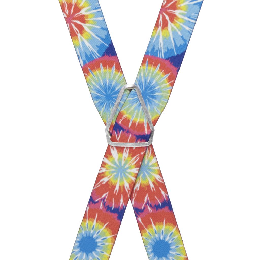 Tie Dye Burst Suspenders - Full View