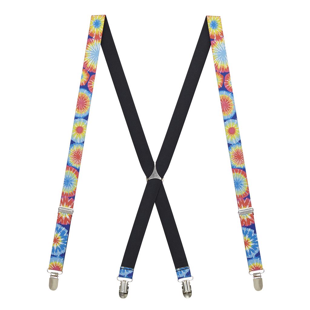 Tie Dye Burst Suspenders - Rear View