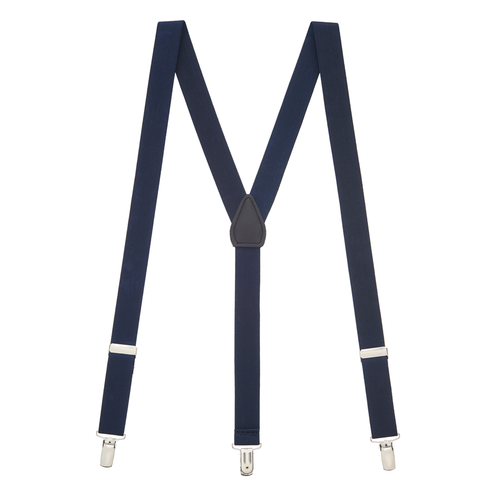 Suspenders in Navy - Full View
