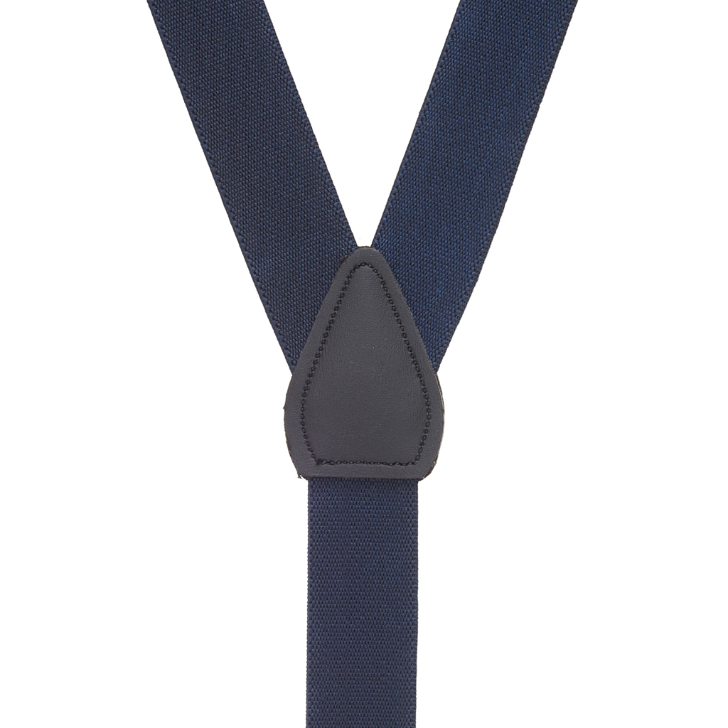 Suspenders in Navy - Rear View