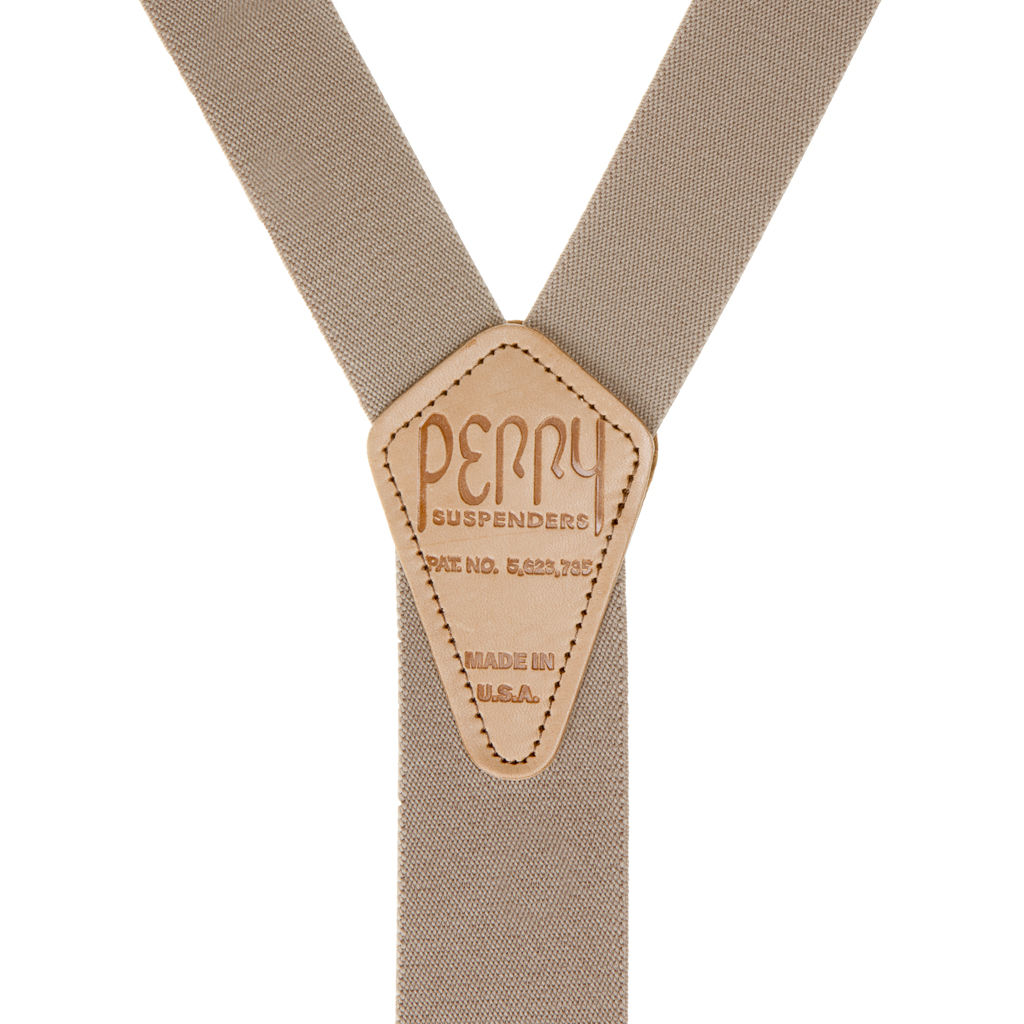 Rear View - 1.5 Inch Wide Perry Belt Clip Suspenders