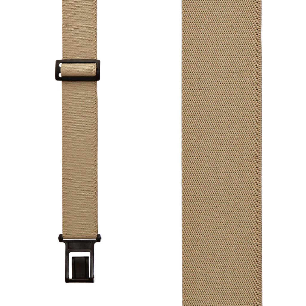 Front View - 1.5 Inch Wide Perry Belt Clip Suspenders