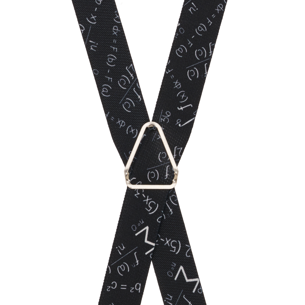 Math Equation Suspenders - Rear View