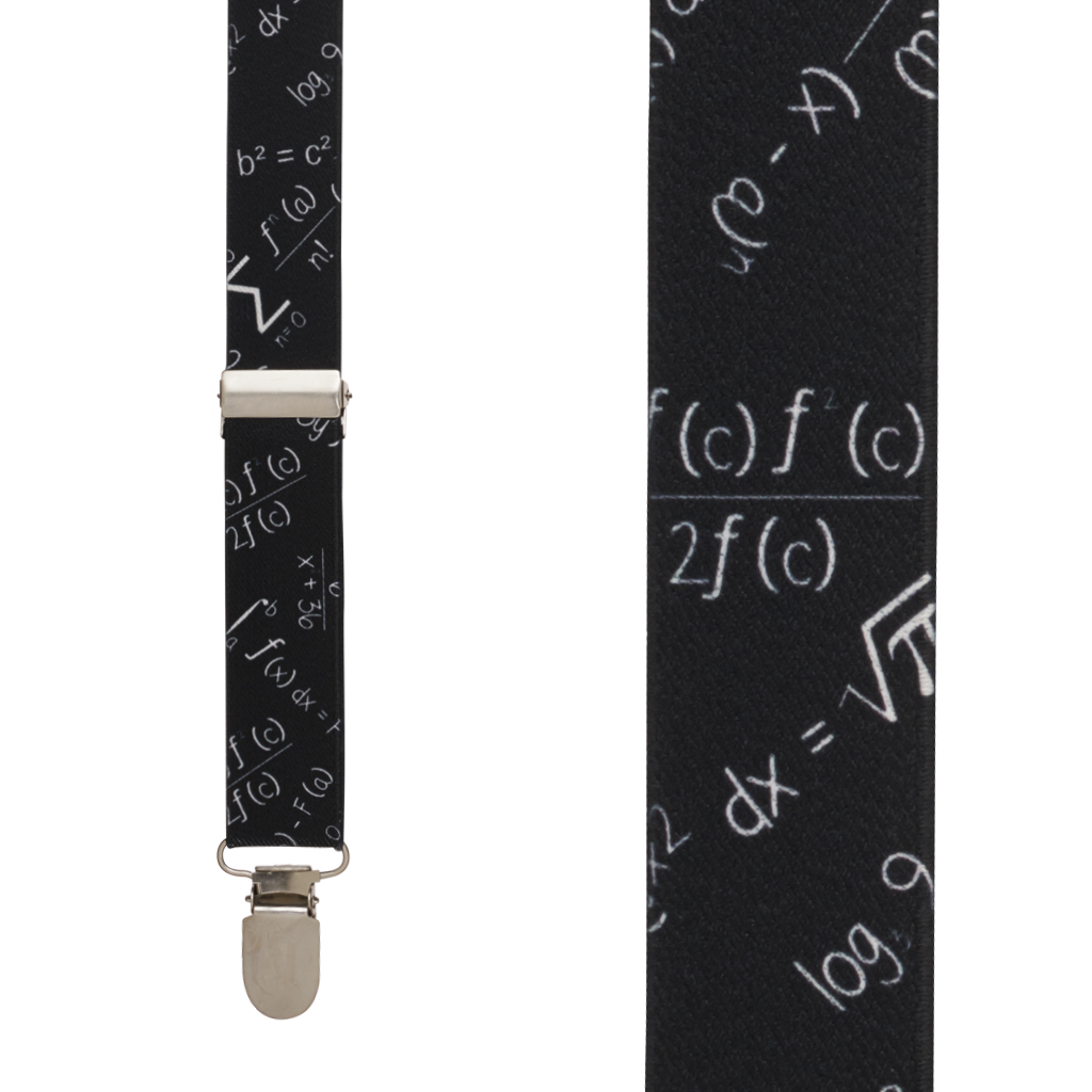 Math Equation Suspenders - Front View