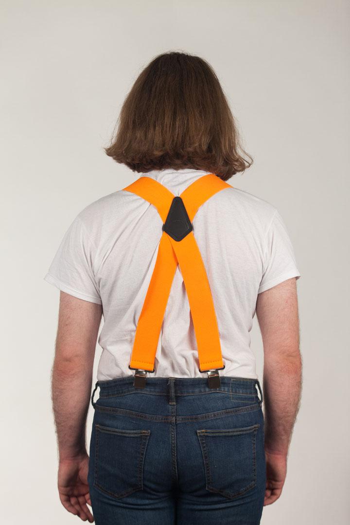 Classic Suspenders - Model View Rear - Orange
