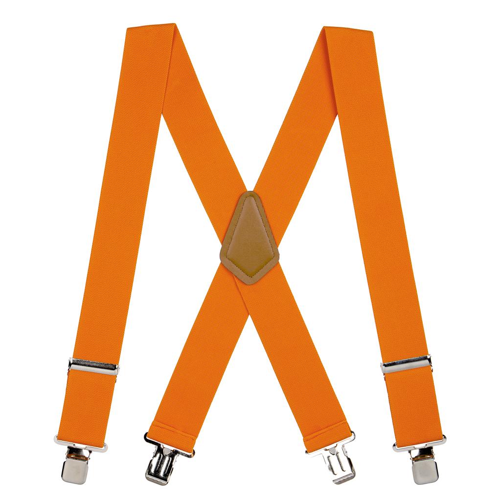 Classic Suspenders - Full View - Orange