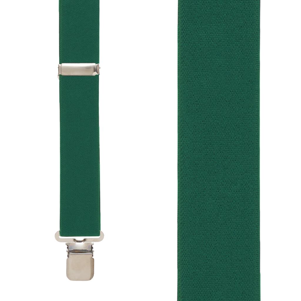 1.5 Inch Wide Suspenders in Hunter - Front View