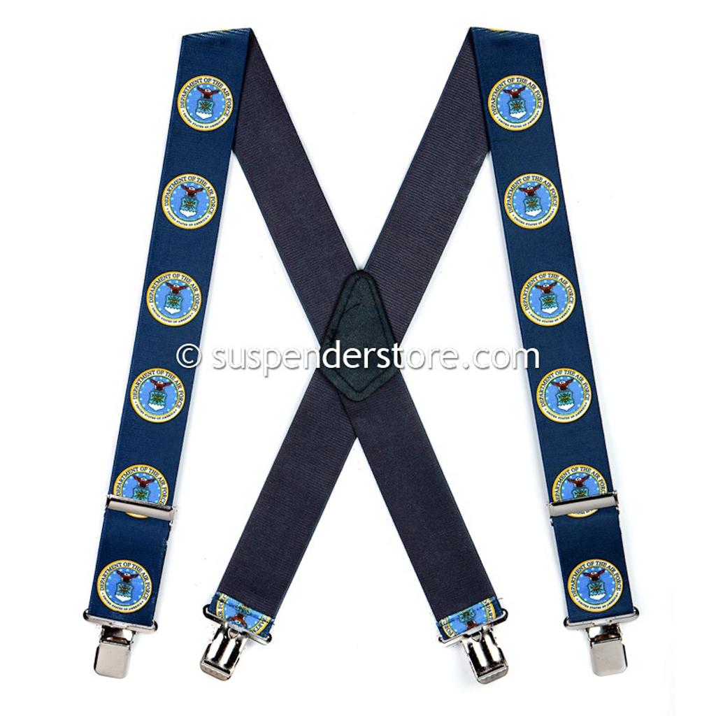 US Air Force Military Suspenders - Full View