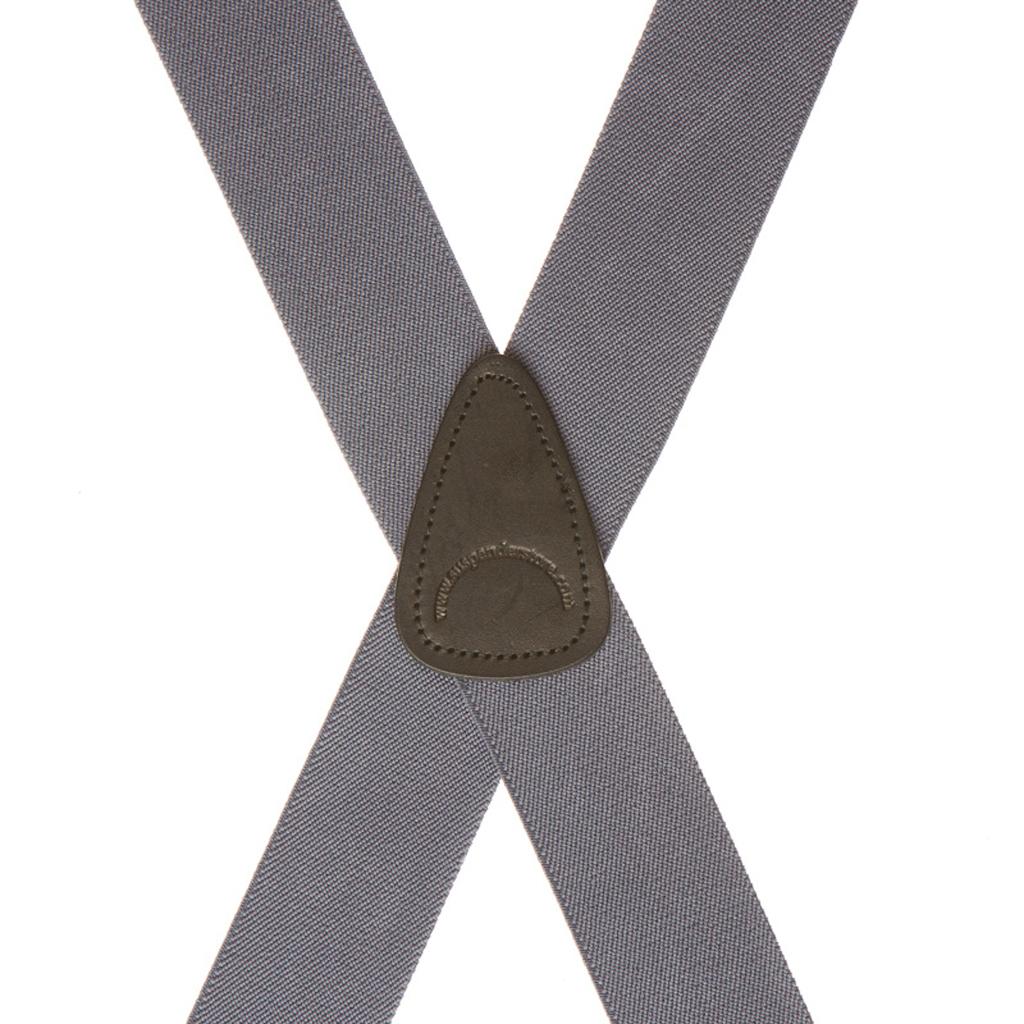 Rear View - 1.5 Inch Wide Clip Suspenders - Rear Grey