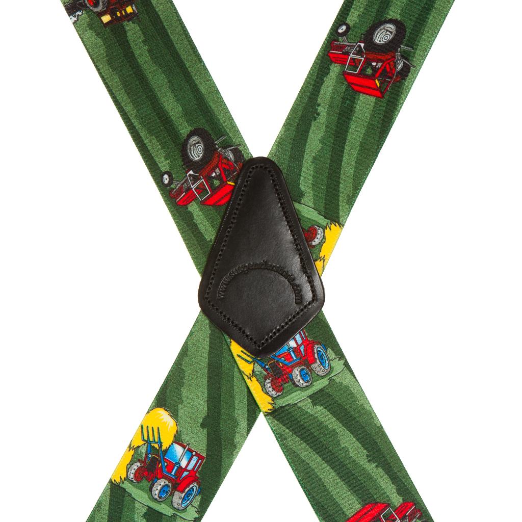 Red Tractors Suspenders - Rear View