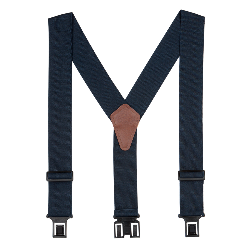 Perry Suspenders - Full View -Navy Blue