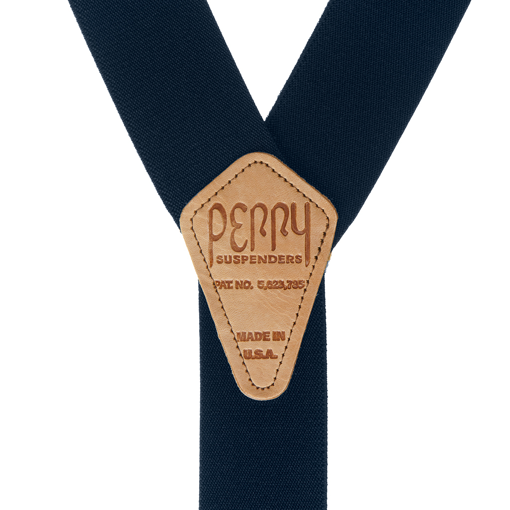 Perry Suspenders - Rear View -Navy Blue