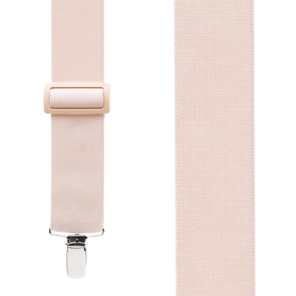 Undergarment Suspenders - BEIGE - Nickel Clip - Front View