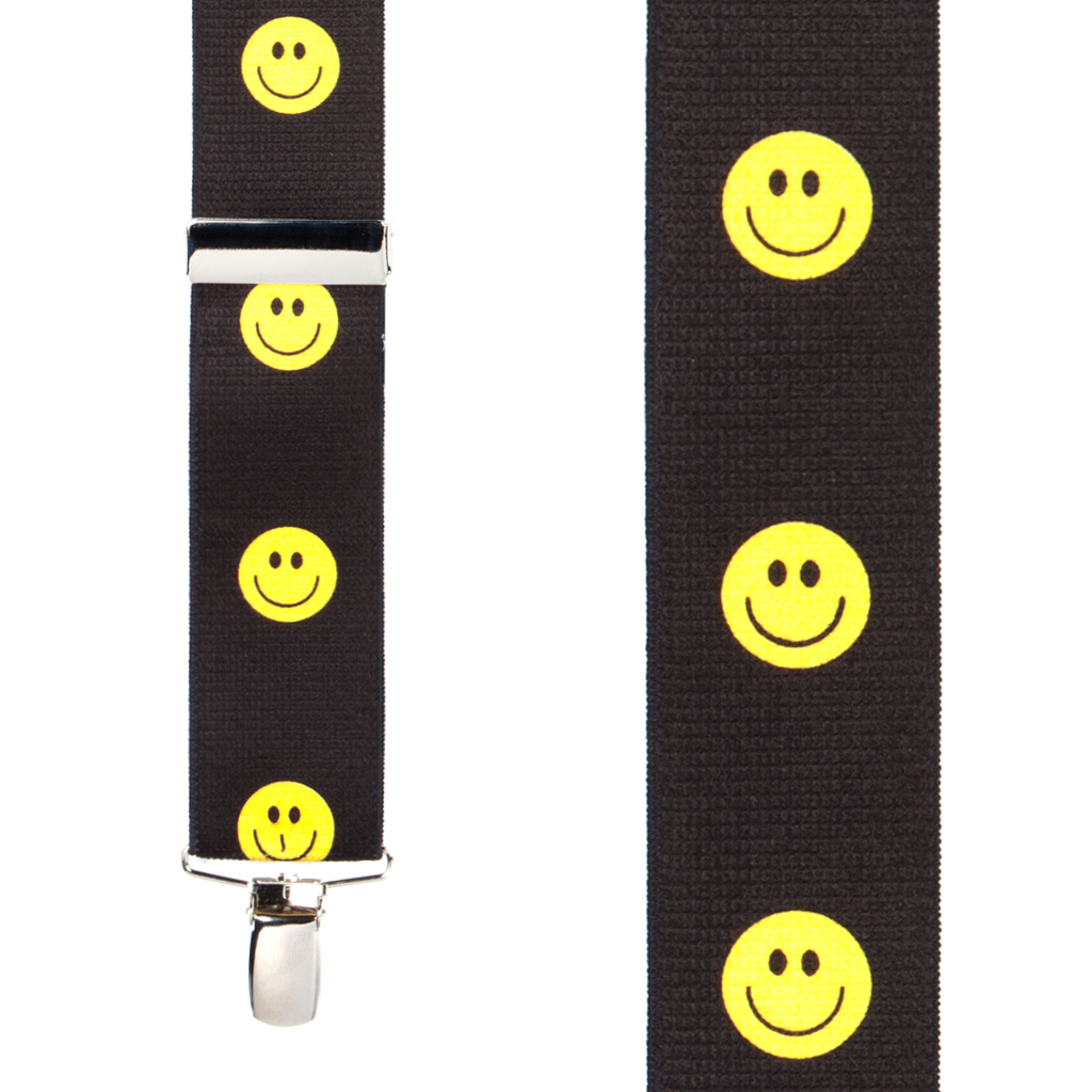 Happy Face Suspenders Front View
