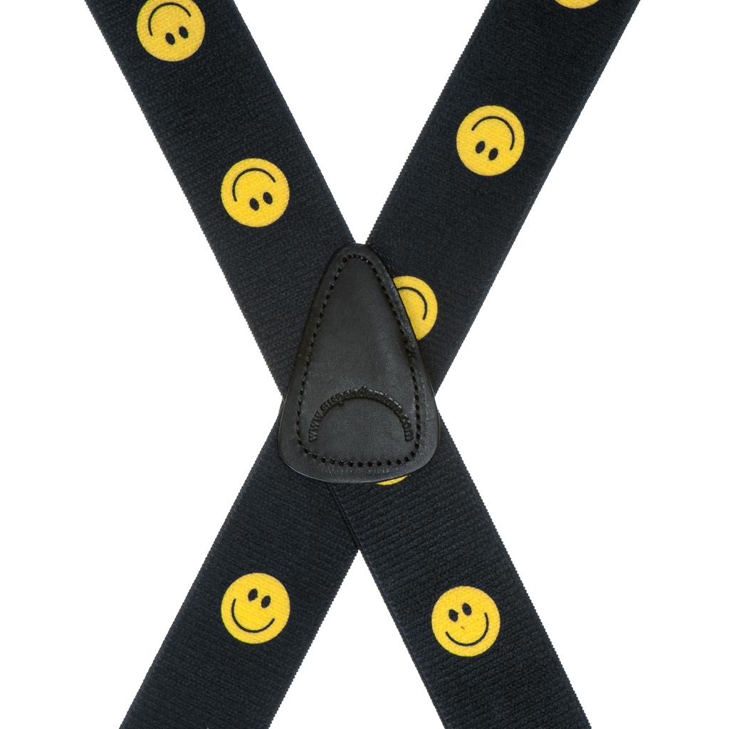 Happy Face Suspenders Rear View